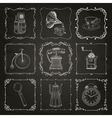 Vintage icons and frames vector image vector image