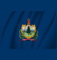 waving flag vermont 10 eps vector image vector image