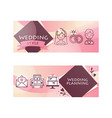 wedding day party for just married couple vector image vector image