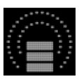 white halftone database sphere shield icon vector image