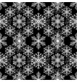 white snowflakes on black background vector image