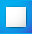 white square on blue background vector image vector image
