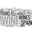 wine tours in spain where there s vino there are vector image vector image