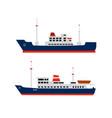yacht ship object pleasure vessel silhouette vector image
