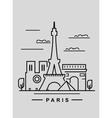 paris and landmark vector image