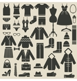 clothing icons vector image