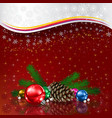 abstract christmas greeting with silhouette of vector image vector image