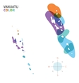 Abstract color map of Vanuatu vector image vector image