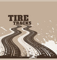 abstract dirty tire tracks print marks background vector image vector image