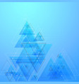 abstract polygonal low poly background with vector image vector image