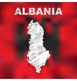 Albanian Abstract Map vector image