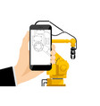 augmented reality in engineering vector image