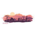 background with landscape south africa vector image