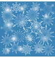 Background with snow flakes vector image vector image