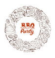 bbq and grill banner vector image