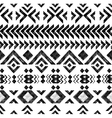 black and white tribal ornament vector image vector image