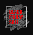 black friday sale poster with watercolor spot on vector image vector image