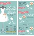 Bridal shower invitationBridal dressbouquet vector image vector image