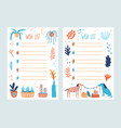 bundle wish list templates decorated potted vector image vector image