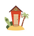 bungalow or house for activities and surfing flat vector image