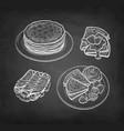 chalk sketch crepes vector image