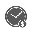 clock money icon simple vector image
