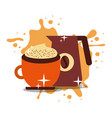 coffee time image vector image vector image