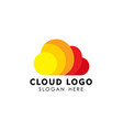 colorful cloud logo design template vector image vector image