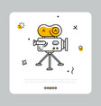 colorful icon of cinema camera on gray vector image vector image