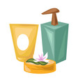 cosmetical means of natural products for spa vector image vector image