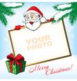 Cristmas Santa Greeting card vector image vector image