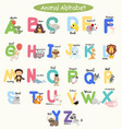 cute animal alphabets for children set vector image vector image