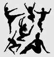 dance silhouette vector image vector image