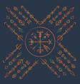 dark runic boho color symbol vector image vector image