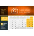 december 2019 desk calendar for 2019 year design vector image vector image