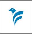 eagle bird logo design animals vector image vector image
