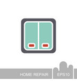 electrical switch two buttons icon vector image