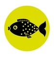 Fish icon graphic design vector image vector image