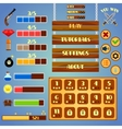 Game interface design vector image vector image