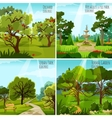 Garden Landscape 2x2 Design Concept vector image