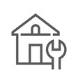 home repair line icon vector image