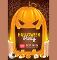 horror pumpkin halloween trick or treat candies vector image vector image
