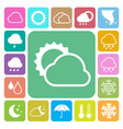 icon set weather vector image