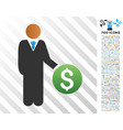 investor flat icon with bonus vector image vector image