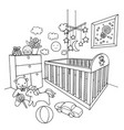 kids room vector image