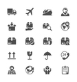 Logistics and shipping flat icons vector image vector image