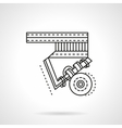 Longboard suspension flat line icon vector image vector image