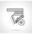 Longboard suspension flat line icon vector image vector image