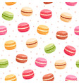macarons seamless pattern vector image vector image