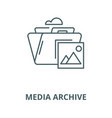 media archive line icon linear concept vector image vector image